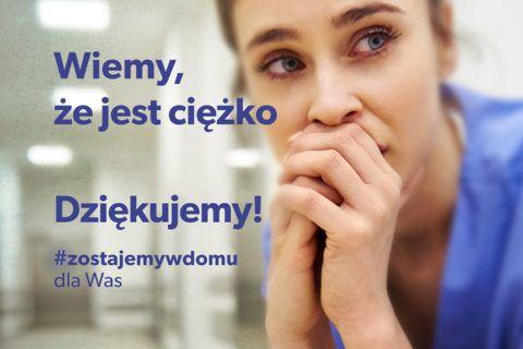 Kampania społeczna #zostajemywdomu dla Was!